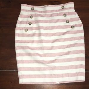 Ann Taylor loft striped pencil skirt sz 2